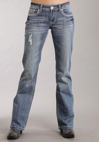 Stetson Women's 818 Rhinestone Bootcut Jeans Denim 10 R
