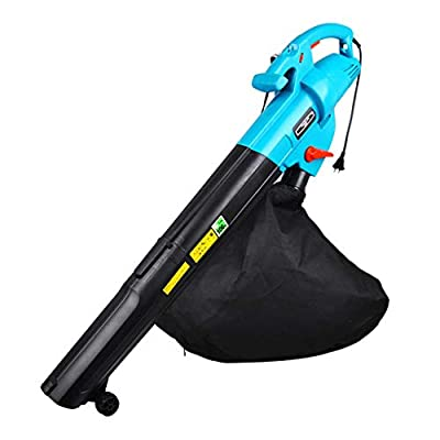 Blowers Garden Gear Leaf Multi-Purpose Sweeper/Cleaner 275Km/H,14000 RPM Output, Crushed Leaves Ratio 15: 1 45L Collection Bag