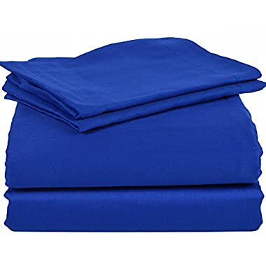 1200 Thread Count Solid Pattern 6- Piece Bedding Sheet Set Upto 24 inches Deep Pocket 100% Egyptian Cotton All Sizes & Colors ( King , Egyptian Blue)