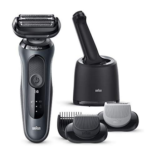 chollos oferta descuentos barato Braun Series 6 60 N7650cc Afeitadora Eléctrica máquina de afeitar barba hombre de Lámina con Base de Carga Con Centro De Limpieza SmartCare 2 Accesorios EasyClick Gris