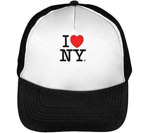 York Negro Beisbol Blanco New Hombre Snapback Gorras I pHaqwH