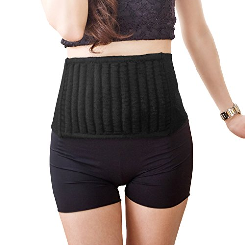 (Unisex Adults Winter Autumn Waist Warmer Support Kidney Binder Stomach Abdominal Warming Band Wrap Thick Adjustable Compression Back Pain Protector Brace Guard)