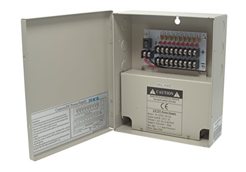 Kenuco CCTV Distributed Power Supply Box | 12V DC | 9 Ports | 5 Amps