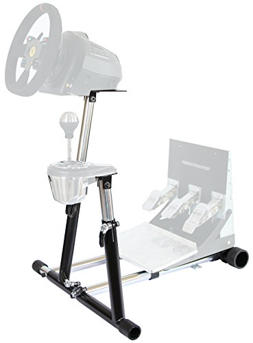 Wheel Stand Pro SuperTX Deluxe Wheel Stand w/ RGS & GTS. Thrustmaster T300RS, TX Leather, T150/T150 Pro/TMX/TMX Pro, GT, TX458, TS-W, TS-PC & T500RS. V2. Wheel & Pedals Not included