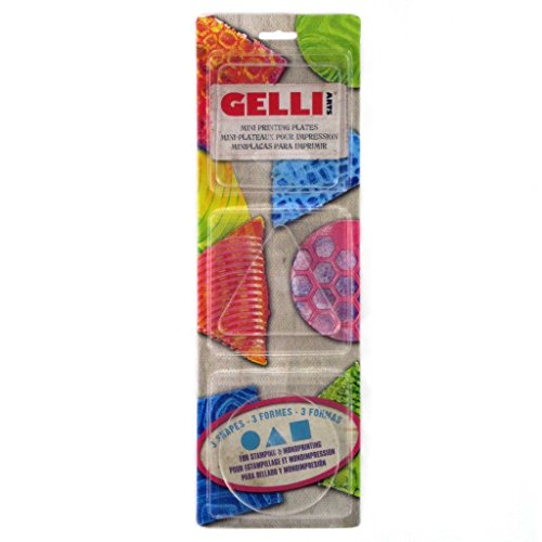 Gelli Arts Minis - Set of () Mini Gel Printing Plates (Round, Square, Triangle, Oval, Rectangle, & Hexagon) (Round) - Gel Plates