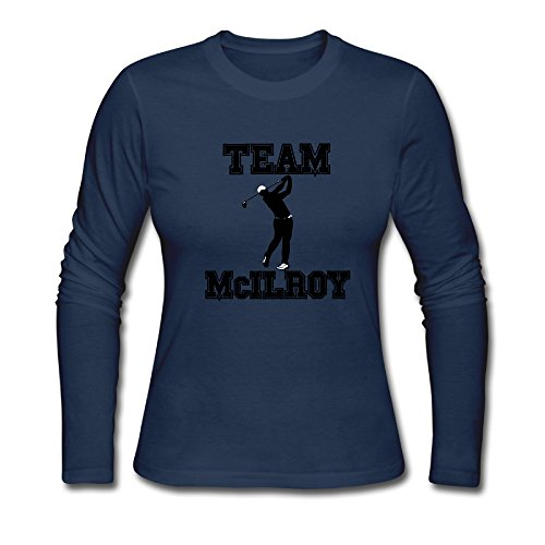 Price comparison product image Long Sleeve-Women's Rory McIlroy Golfer Long Sleeve T Shirt Shirt.