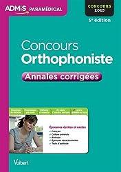 Concours Orthophoniste - Annales corrigées - Concours 2015