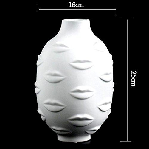 NAHASU | Vases | Ladies Face Head Planter Vase Face Vase for Flower Human Face Flower Vase Succulent Pot Home Garden Ornament White Ceramic Craft