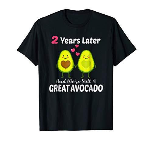 2st Wedding Anniversary T-Shirt Cute Couple Avacado Gift -