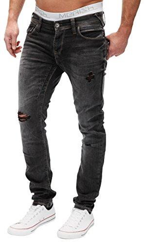 5 Jeans Merish Contrasto wash pocket Altamente Decorative Modello Stile fit Uomo Nero Distrutto A Elaborazione Tubo Straight J2048 Gamba Dettagliato qEqwd4Wr