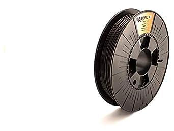Basicfil PLA 1.75 mm, 500 gr Filamento de Impresión 3D, Negro