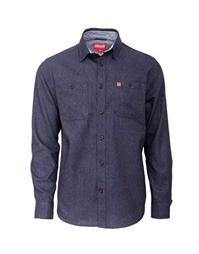 Coleman Long Sleeve Heather Cotton Flannel Shirts for Men (Medium, ()