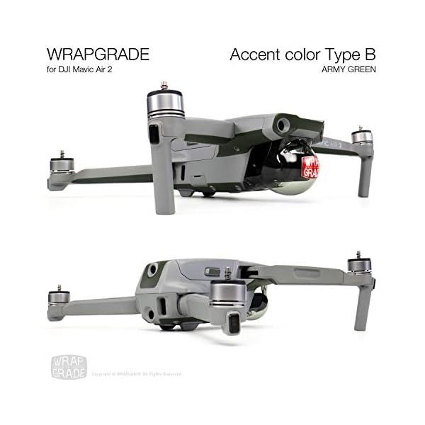 WRAPGRADE Skin Compatibile con DJI Mavic Air 2 | Accent Color B (Army Green) 3 spesavip