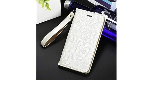 POXZPM Caja del teléfono teléfono de Camelia Funda de Cuero para 6 6S 7 8 Plus XR XS MAX Funda de Cuero para Mujer con Tapa, Whtie, para iPhone 7P 8P: Amazon.es: Electrónica