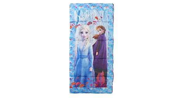 Camping 28 inches x 56 inches Frozen II Sleeping Bag My First with Carrying Case Anna Elsa Destinys Calling for Kids Sleepovers Overnights