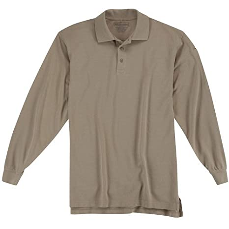 5.11 Tactical Utility Long Sleeve Polo Shirt Large Silver Tan by ...