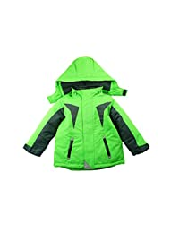 Hiheart Boys'Windproof Snowwear Jacket with Hood