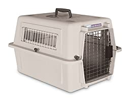 Petmate Ultra Vari Kennel, For Pets up to 15 Pounds, Bleached Linen
