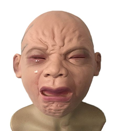 (Hosaire Halloween Horror Lifelike Crying Baby Mask Novelty Rubber Latex Horror Spooky Head)
