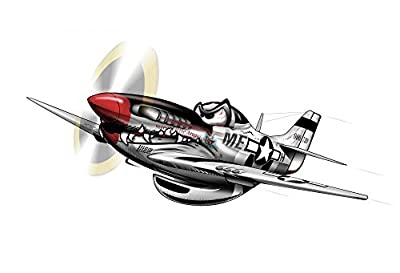 Wallmonkeys P-51 Mustang WWII Airplane Wall Decal Peel and Stick Decals for Boys WM99278