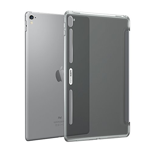 ESR iPad Pro 12.9 Case, Clear Hard Case [Perfect Match with Smart Keyboard] with Soft TPU Bumper [Corner Protection] Slim Fit Back Shell Cover for iPad Pro 12.9 inch (2015 Released)(Charcoal Gray)