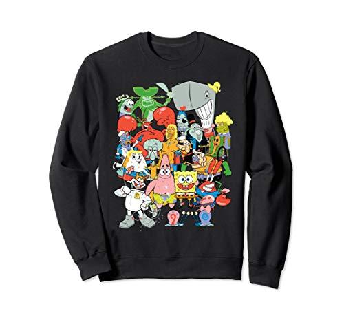 Spongebob Character Pile Up Sweatshirt