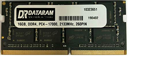 (DATARAM 16GB Single DDR4 2133 MT/s (PC4-17000) DR x8 SODIMM 260-Pin Memory RAM)