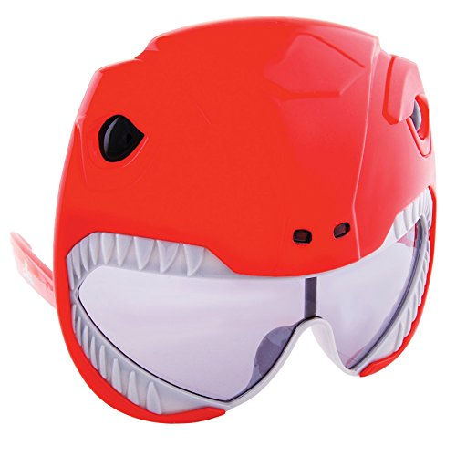 (Sunstache Red Power Ranger Glasses Superhero Costume Accessory)