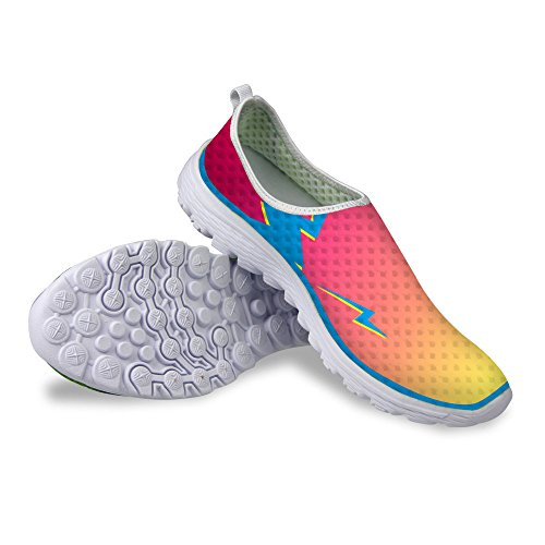 FOR U DESIGNS Cool Womens Breathable Mesh Athletic Sneaker Running Shoes Orange 2 CgAXPc