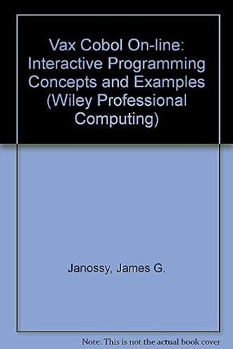 vax cobol on line interactive programming concepts and examples rh amazon ca COBOL Meme Python Programming