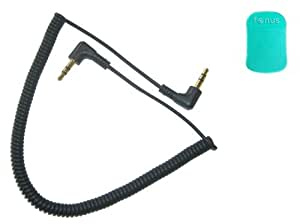 Fonus Car Stereo, Speaker Input 3.5mm Auxiliary AUX Jack Audio Coiled Cable Adapter Wire for AT&T HTC Titan, HTC Inspire 4G, HTC Titan 2 II, HTC Vivid (GREEN Dash Sticky Mat is included)
