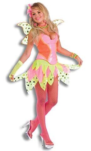 Rubie's Costume Deluxe Adult Rave Pixie Costume, Pink, Standard (The Pixies Deluxe)