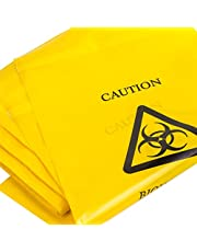 50x amarillo bolsas de basura–35cm x 20cm–cierre autoadhesivo clínicos enfermos/vomitar eliminación