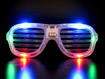 Clear LED Slotted Sunglasses Great for Raves or - West Glasses Kayne