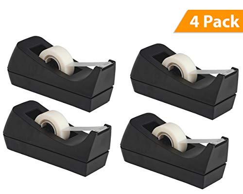 Desktop Tape Dispenser - Non-Skid Base - Weighted Tape Roll Dispenser - Perfect for Office Home School (Tape not Included) - - Skid Non Weighted Base