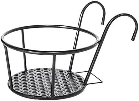 Maceta Estantería, Florero - Cesta colgante de hierro de Stand para jardín, vidrio, balcón, interiores y Escritorio de Fairy País