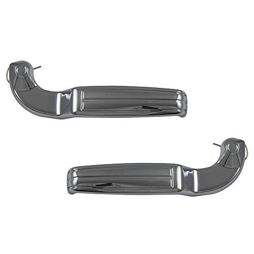 (Pair Set Front Interior Inside Chrome Door Handles Replacement for El Camino Impala Nova Cutlass Firebird GTO Ventura 7743521 7743520 AutoAndArt)
