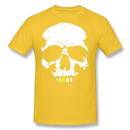 - Robert Pesce Mens Gentleman Skull T Shirt Gold