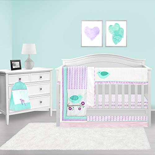 Pam Grace Creations 6Piece Lovebirds Nursery to Go Crib Bedding Set
