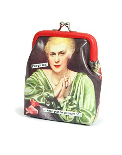 Anne Taintor Bags - Anne Taintor Vinyl Kiss Lock Change Coin Purse - More Of It