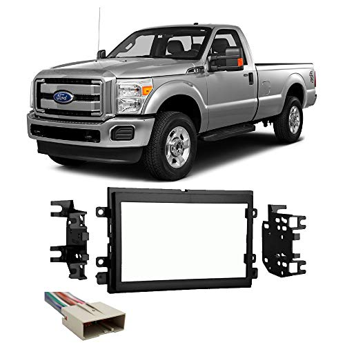 Ford F-250 350 450 550 2013-2016 Double DIN Stereo Radio Install Dash Kit New