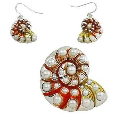 big-island-of-hawaii-textured-enamel-simulated-pearl-sea-shell-pendant-earring-set-large-celebrity-l