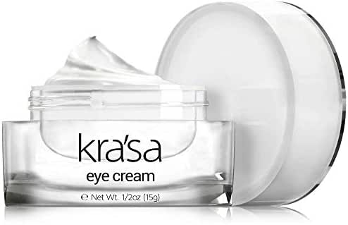 Krasa Eye Cream - Anti-Aging Eye Cream for Dark Circles and Puffiness That Reduces Eye Bags, Crow's Feet, Fine Lines, And Sagginess- The Most Effective Under Eye Cream for Wrinkles