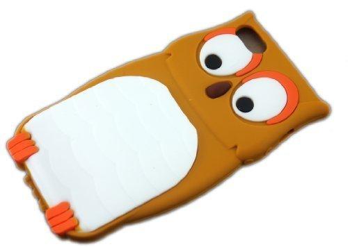 Apple iPhone 55S Chouette marron Brown de protection coque de protection en silicone Coque Cover Etui thematys®
