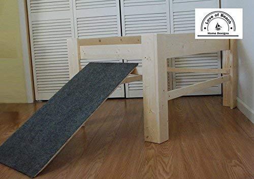 Amazoncom Dog Bed Platform Large Handmade Furniture With Dog Ramp