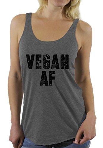 Awkward Styles Women's Vegan AF Racerback Tank Tops Vegan Racerback Tank Tops Grey M
