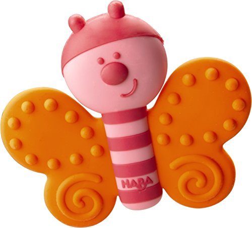 HABA Clutching Toy Butterfly Silicone Teether