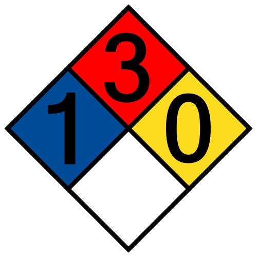 compliancesigns-aluminum-nfpa-704-hazmat-diamond-sign-with-1-3-0-0-rating-15-x-15-in-multi-color