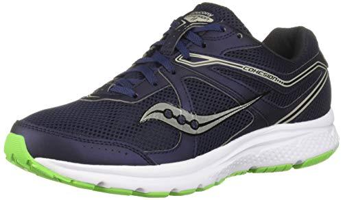 (Saucony Men's Grid Cohesion 11 Sneaker, Navy/Slime, 095 W US)