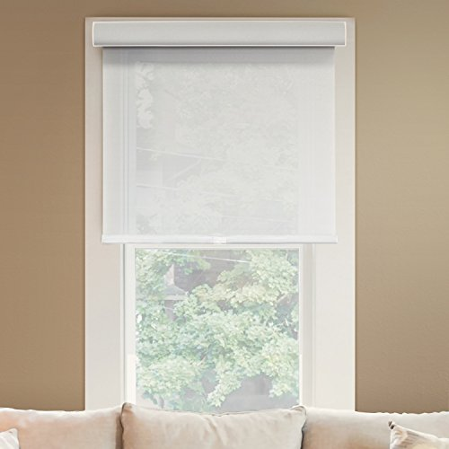Chicology Deluxe Free-Stop Cordless Roller Shades No Tug Privacy Window Blind, 71'' W X 72'' H, Magnolia (Light Filtering) by CHICOLOGY (Image #2)